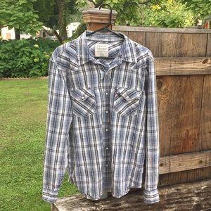 Levi's plaid button front western shirt